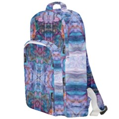 Marbled Pebbles Double Compartment Backpack