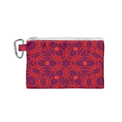 Red Rose Canvas Cosmetic Bag (small)
