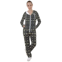 Geometric Textured Ethnic Pattern 1 Women s Tracksuit