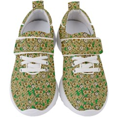 Florals In The Green Season In Perfect  Ornate Calm Harmony Kids  Velcro Strap Shoes