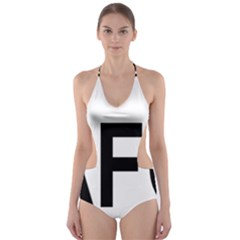 Afghanistan Afg Oval Sticker Cut-out One Piece Swimsuit