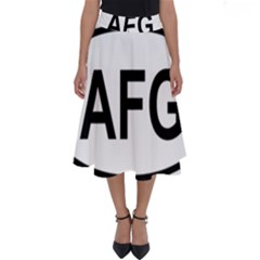 Afghanistan Afg Oval Sticker Perfect Length Midi Skirt