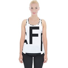 Afghanistan Afg Oval Sticker Piece Up Tank Top