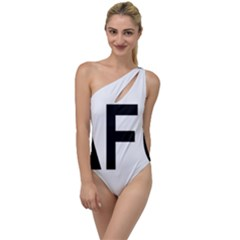 Afghanistan Afg Oval Sticker To One Side Swimsuit