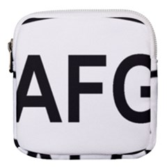 Afghanistan Afg Oval Sticker Mini Square Pouch