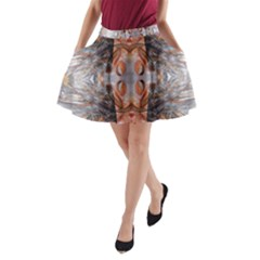 Abstract Marbling Symmetry A-line Pocket Skirt