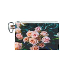 Sweet Roses Canvas Cosmetic Bag (small)