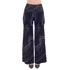 Topography Map So Vintage Palazzo Pants