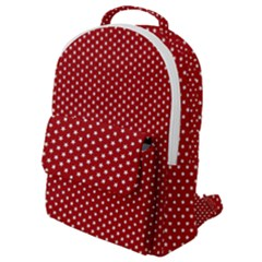 Stars Red Ink Flap Pocket Backpack (small)