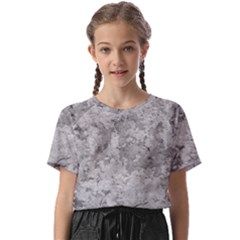 Silver Abstract Grunge Texture Print Kids  Basic Tee