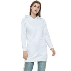 Color White Women s Long Oversized Pullover Hoodie