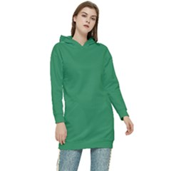 Color Sea Green Women s Long Oversized Pullover Hoodie
