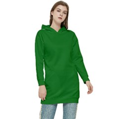 Color Dark Green Women s Long Oversized Pullover Hoodie