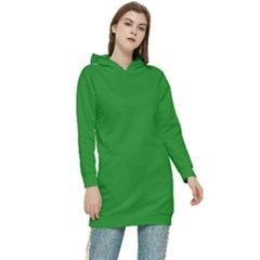 Color Forest Green Women s Long Oversized Pullover Hoodie