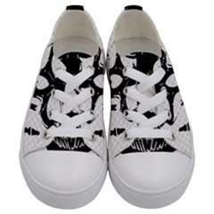 Bad 2 The Bone Kids  Low Top Canvas Sneakers
