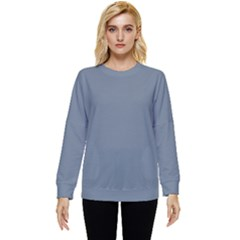 Color Slate Grey Two Sleeve Tee With Pocket