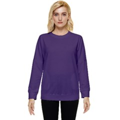 Color Russian Violet Two Sleeve Tee With Pocket