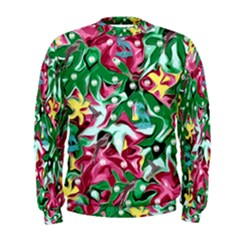 Floral-diamonte Men s Sweatshirt