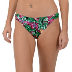 Floral-diamonte Band Bikini Bottom
