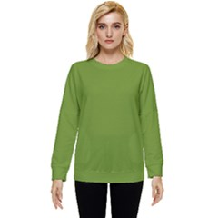 Color Olive Drab Two Sleeve Tee With Pocket