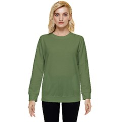 Color Dark Olive Green Two Sleeve Tee With Pocket