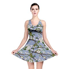 Pear Branch With Flowers Reversible Skater Dress