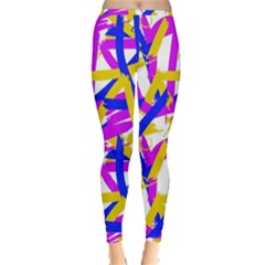 Colored Stripes Inside Out Leggings