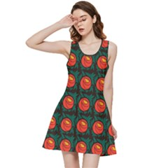 Rose Ornament Inside Out Racerback Dress