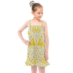 Sunshine Colors On Flowers In Peace Kids  Overall Dress