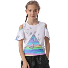Minimal Holographic Butterflies Kids  Butterfly Cutout Tee