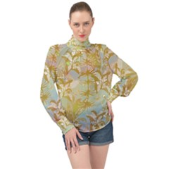 Keydom High Neck Long Sleeve Chiffon Top