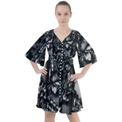 Demon Chrome Boho Button Up Dress