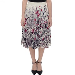 Berries In Winter, Fruits In Vintage Style Photography Classic Midi Skirt