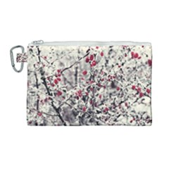 Berries In Winter, Fruits In Vintage Style Photography Canvas Cosmetic Bag (large)
