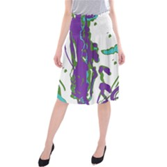 Multicolored Abstract Print Midi Beach Skirt