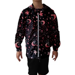 Pattern Lune ¨|toile Profondeur Kids  Hooded Windbreaker
