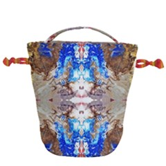 Abstract Acrylic Pouring Art Drawstring Bucket Bag