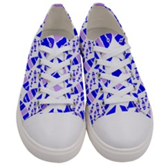 Fish-patern-color Men s Low Top Canvas Sneakers