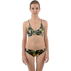 Jungle Wrap Around Bikini Set