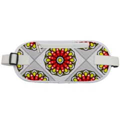Mandala Modern Forme Geometrique Rounded Waist Pouch