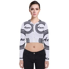 Amour Long Sleeve Zip Up Bomber Jacket