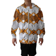 Abstract African Pattern Kids  Hooded Windbreaker