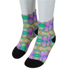 Colorful Neon Pattern  Men s Low Cut Socks