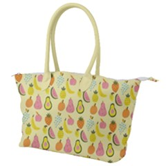 Tropical Fruits Pattern  Canvas Shoulder Bag