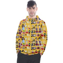 Drawing Collage Yellow Men s Pullover Hoodie
