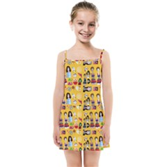 Drawing Collage Yellow Kids  Summer Sun Dress