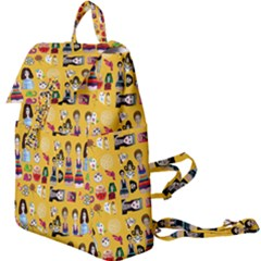 Drawing Collage Yellow Buckle Everyday Backpack