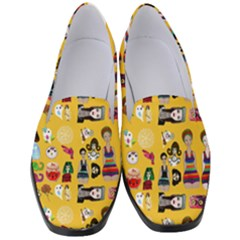 Drawing Collage Yellow Women s Classic Loafer Heels