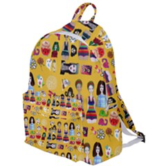 Drawing Collage Yellow The Plain Backpack