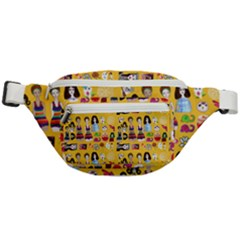 Drawing Collage Yellow Fanny Pack